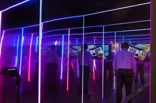 In partnership with Lightwave, attendees can have their emotions censored and measured in the Emotion Chamber creating a visual light pattern during the Adobe Summit  The Digital Marketing Conference, being held at the Palazzo on Wednesday, March 22, 2017.