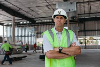 Vegas Golden Knights Senior Vice President Murray Craven, gives a tour of the Golden Knights Practice Facility, in Las Vegas, Nev. on March 21, 2017. Construction began on the facility in October and is expected to finish in August.