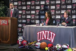 Andy Grossman with UNLV Athletics introduces new athletic director Desiree ...