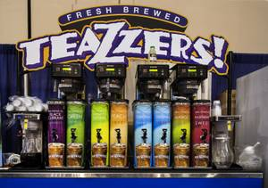 Teazzers! fresh brewed teas are on display during the National ...