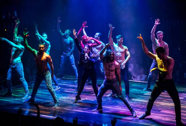 "Lyndsay Hailey and the cast of ""Magic Mike Live."""