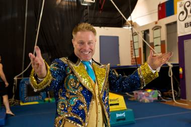 Jon Weiss, a circus performer formally from Ringling Bros. and Barnum & Bailey Circus, poses for a photo, Friday May 19, 2017.