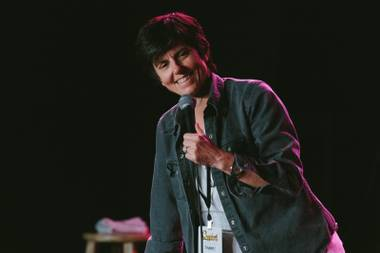 Comedian Tig Notaro performs at the Fremont Country Club in downtown Las Vegas, on Sunday, May 21st, 2017.Headliner comedian Tig Notaro performs during Nasty Women showbenefiting the ACLU during the Crapshoot Comedy Festival at the Fremont Country Club in downtown Las Vegas, Sunday, May 21, 2017.