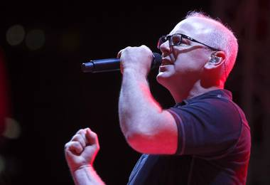 Bad Religion lead vocalist Greg Graffin performs during the Punk Rock Bowling and Music Festival at the Downtown Events Center Sunday, May 28, 2017.
