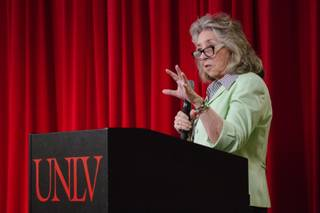 Congresswoman Dina Titus (D-Nev) speaks during a health care hearing at UNLV in Las Vegas on Saturday, June 3, 2017. At the hearing, Planned Parenthood patients, health care providers, and public health experts offered testimonies about what the ACA (Affordable Care Act) repeal would mean to them.