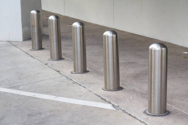 Bollards similar to the ones the Clark County Commission is having installed along the Las Vegas Strip.