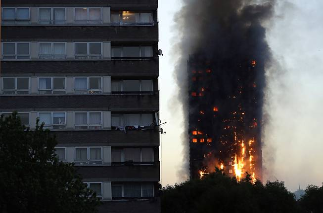 Some killed in London tower block fire: fire brigade