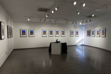 "A glimpse at the exhibition ""Valley of Faces"" at the Winchester Cultural Center in Las Vegas, Nev. on June 9, 2017."