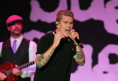 Sugar Ray plays a concert at night at the Flamingo's pool June 25.