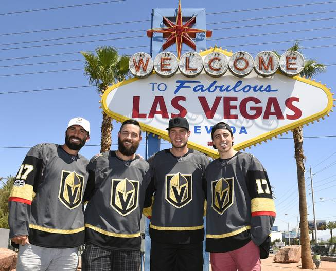 Vegas Golden Knights Hockey Players on the Las Vegas Strip