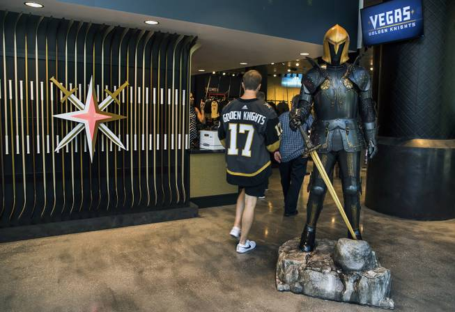 new product c5c2a 4be5d Counting on retail sales, Golden Knights play up in-store ...