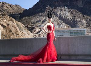 Jessica Minh Anh's Fashion Show on Hoover Dam