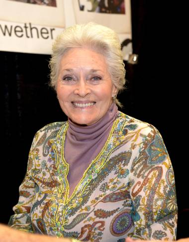 Lee Meriwether, actress and the second Catwoman from the original Batman TV series talks to fans during an autograph session as the Amazing Las Vegas Comic Con descends on the Las Vegas Convention Center. Saturday, June 24, 2017.