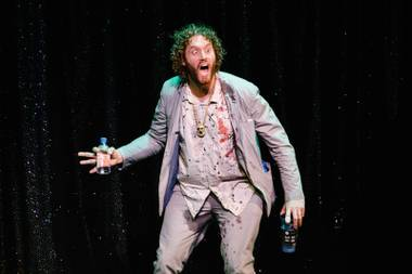 Comedian and actor T.J. Miller performs at the Mirage, June 24, 2017.