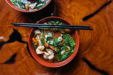 The warm, rich broth, long wheat noodles, soft-boiled egg, green onions and tender, pork belly were there for you, serving you comfort without judgment.