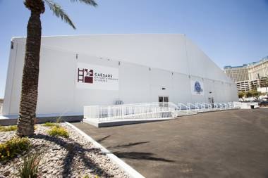 An exterior view is seen of the new Caesars Entertainment Studios in Las Vegas, located just off the Strip, Thursday, June 29, 2017. The studio's production space is about 48,000 square feet and offers 100 tons of silent AC, 250 tons of silent heat, 10,000 amps of power, hair/makeup and wardrobe rooms, 24-hour security and 250 dedicated parking spots.