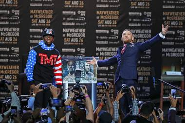 The undefeated boxer and the Irish UFC champion have thrown their first jabs in a summer of verbal sparring before the fighting spectacle of the year. Mayweather and McGregor kicked off a four-city promotional tour, facing off in front of ...