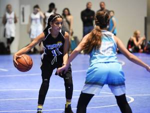 509 Teams of boys and girls 5 to 18 years old, from 21 states and 6 countries battled on 47 courts during the West Coast Jam On It! basketball tournament at the Las Vegas Convention Center. Saturday, July 15, 2017. CREDIT: Glenn Pinkerton/Las Vegas News Bureau