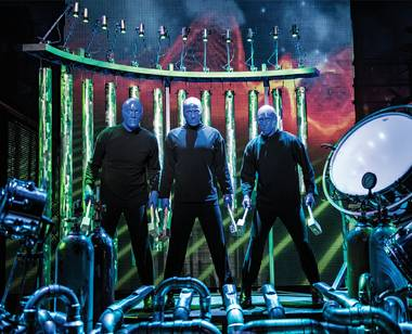 The sky is the limit for the Blue Man Group.