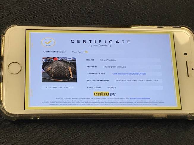Entrupy has introduced authentication technology that claims a 98 percent success rate last year.
