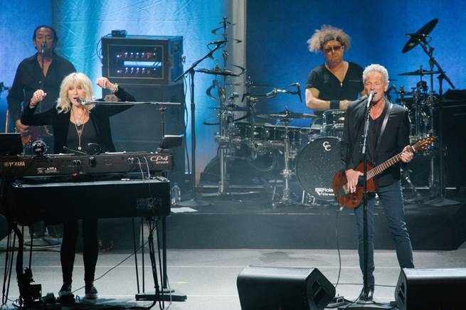 Lindsey Buckingham and Christine McVie perform in concert for their 2017 tour at Park Theater, Saturday, July 22, 2017.