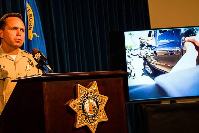 Naked gunman shot by police in Las Vegas, authorities say