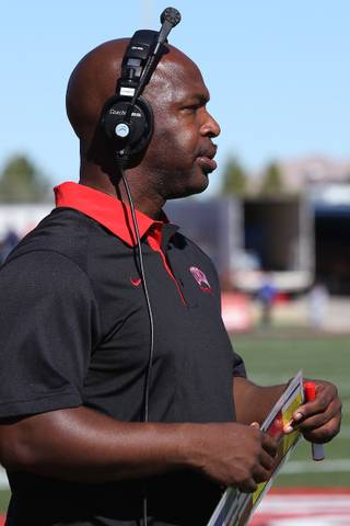UNLV football wide receiver coach Cedric Cormier is entering his eighth season with the program. Courtsey