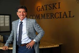 Frank Gatski, president/CEO of Gatski Commercial Real Estate, poses in the lobby of the company's offices Tuesday, Aug. 29, 2017.