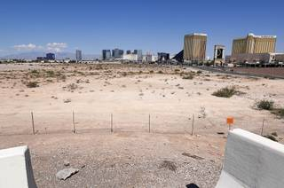 A view from Russell Road during a walk around the Raiders Stadium site Sunday, Sept. 10, 2017.