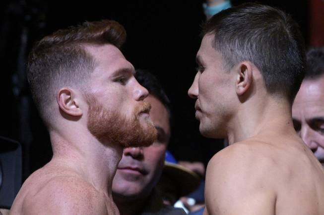 Canelo Alverez & 'GGG' Golovkin L.A. Weigh In