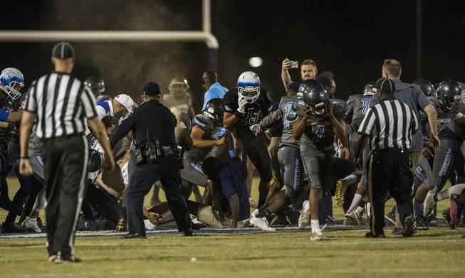 Pepper spray used to break up players' brawl after game