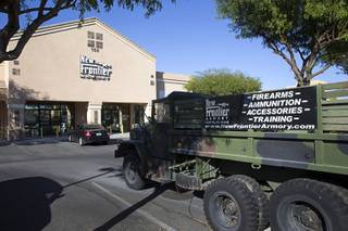 A view of the New Frontier Armory, 150 E. Centennial Pkwy, in North Las Vegas Tuesday, Oct. 3, 2017. In published interviews, owner David Famiglietti said that Stephen Paddock legally purchased weapons from the store earlier in the year.