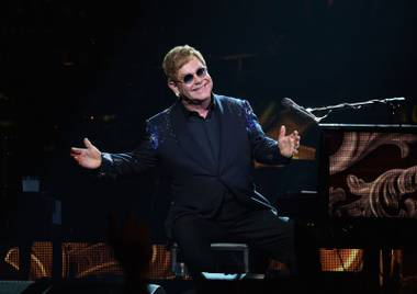 Elton had to cancel his spring shows at Caesars due to illness, and he couldn't be happier to be back in town.
