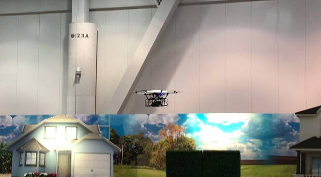 WorkHorse demonstrates its drone delivery service last month at Pack Expo at the Las Vegas Convention Center.