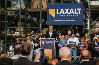 Attorney General Adam Laxalt announced his candidacy for Governor at an event in Henderson, Nev. on November 1, 2017.