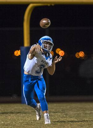 Basic QB Paul Myro IV (3) releases another pass versus ...