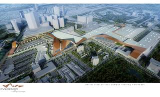 A rendering of the Las Vegas Convention Center expansion proposal by TVS Design/Design Las Vegas.