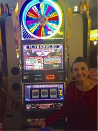 "Sylvia Tejeda, of San Antonio, was gambling at the Strip property on Oct. 28 when the machine hit. She was ""happy, going crazy and in shock,"" according to a news release. She was on vacation. ..."