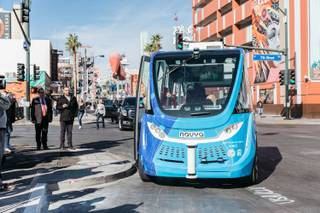 The city of Las Vegas teamed with AAA Northern California, Nevada & Utah, Keolis North America and the Regional Transportation Commission of Southern Nevada to bring the nation's first self-driving shuttle geared specifically for the public to Downtown Las Vegas, Nev. on November 8, 2017.