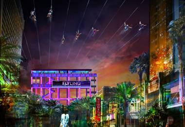 Caesars Entertainment is building a zipline that will run from a 122-foot launch tower near the Las Vegas Strip 1,080 feet to the base of the High Roller Observation Wheel at the Linq, the company announced today. The zipline attraction will be named the Fly Linq and will be able to carry 10 people at once over the Linq Promenade, the open-air mall situated between ...