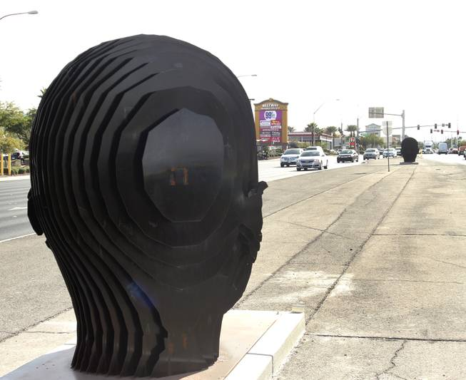 "Clark County's public art project ""Centered,"" takes empty road islands throughout Clark County and beautifies them with art. A look at ""Norte y Suerte"" by Luis Varela-Rico."