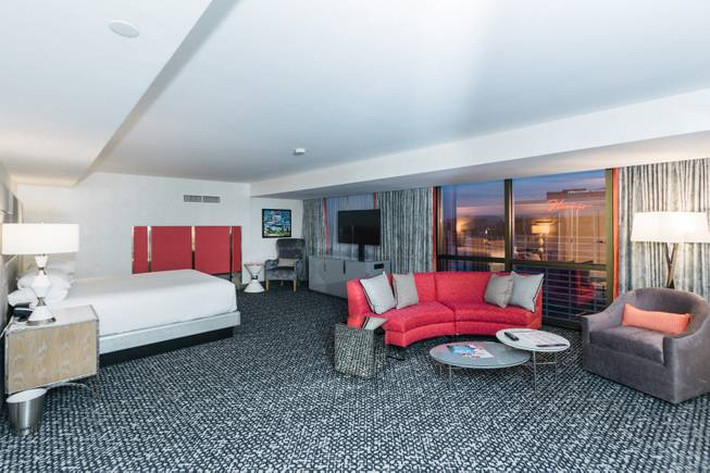 A look inside the newly remodeled rooms at the Flamingo Hotel and Casino, Monday, Nov. 13, 2017.