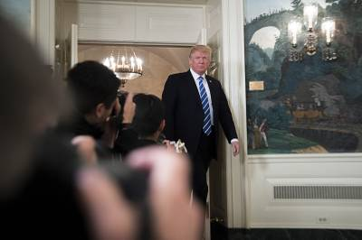President Donald Trump at the White House in Washington, Nov. 15, 2017. A wide range of experts agree that cutting taxes is likely to increase the trade deficit, which measures the difference between what the United States imports from other countries, like televisions and fruit, and what it exports, like cars and meat.