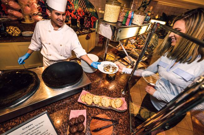 Paradise Garden Buffet at the Flamingo is one of many Las Vegas locales to offer a special Thanksgiving menu. It will feature a carving board station serving roasted turkey, salt and herb crusted prime rib and pineapple glazed ham, among other festive delights.