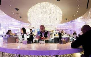 The Cosmopolitan unveiled the newly renovated second floor of its Chandelier bar, famous for its opulent crystal chandelier, Monday, Nov. 20, 2017.  Renovations continue on other areas of the three-story bar.