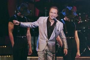 David Cassidy performs during the opening of his show