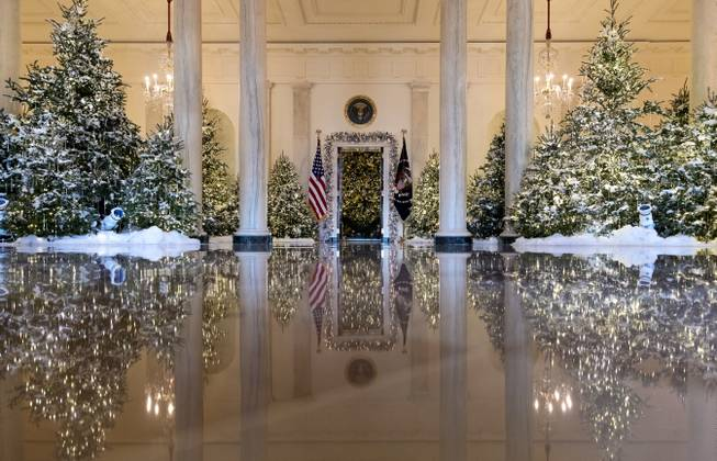The White House unveils Christmas decorations