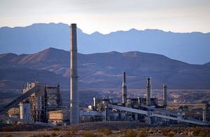 The Reid Gardner Generating Station is shown near Moapa, Nev. Tuesday, Nov. 28, 2017. The coal-fired power plant, built in 1965, was permanently shut down by NV Energy in March 2017.