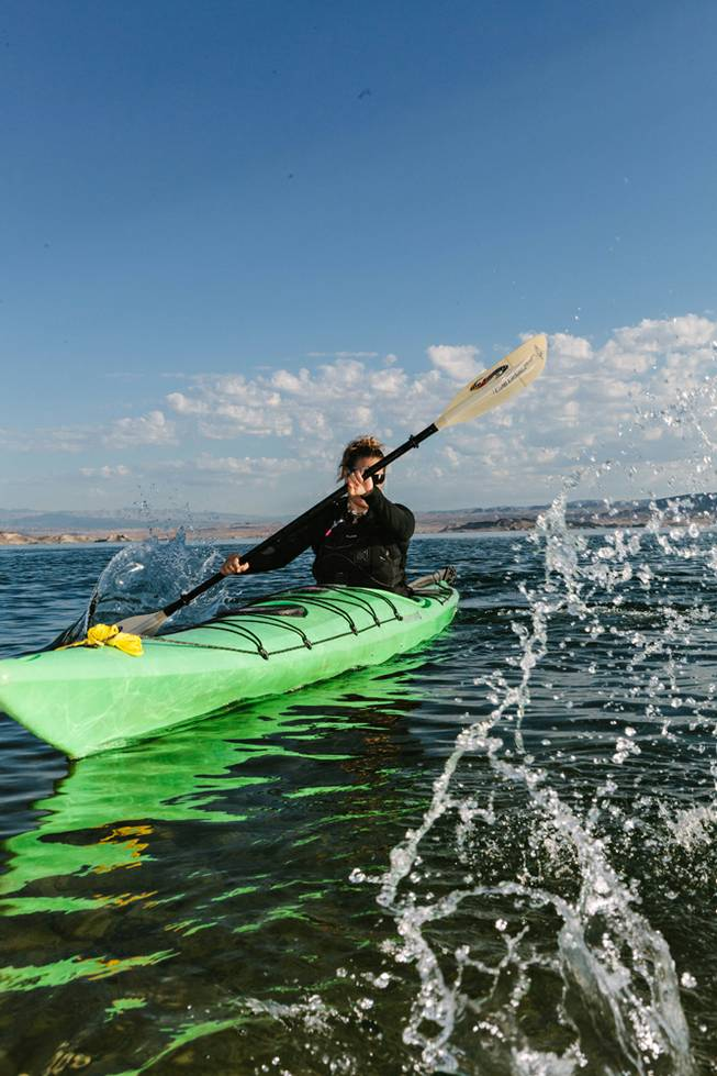 Izzy Collet, owner and CEO of Kayak Las Vegas located at Desert Adventures on Lake Mead on July 28, 2017.