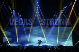 Jay Leno performs during the Vegas Strong Benefit Concert Friday, ...